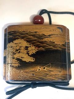Large Japanese Lacquer Inro with Maki e Landscape Meiji Period - 1598005