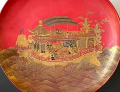 Large Japanese Lacquer Plate with Elaborate Maki e Design by Kajikawa - 1826402