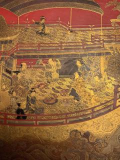 Large Japanese Lacquer Plate with Elaborate Maki e Design by Kajikawa - 1826404