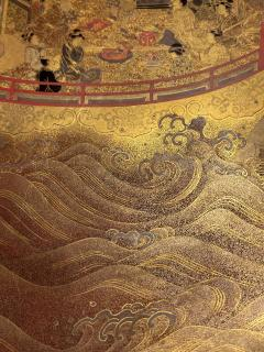 Large Japanese Lacquer Plate with Elaborate Maki e Design by Kajikawa - 1826407
