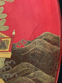 Large Japanese Lacquer Plate with Elaborate Maki e Design by Kajikawa - 1826409