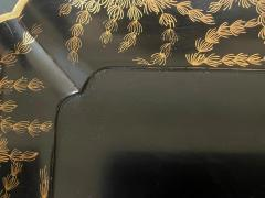 Large Japanese Lacquer Tray with Maki e Carp Design Meiji Period - 1980853