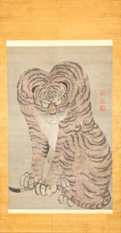 Large Japanese Scroll of a Tiger - 1353950