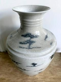 Large Korean blue and white vase with Phoenix Design - 1488887
