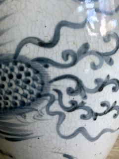 Large Korean blue and white vase with Phoenix Design - 1488892