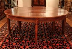 Large Late 18th Century French Oval Extending Walnut Dining Table - 1445662