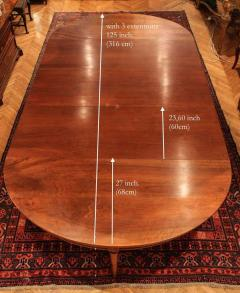 Large Late 18th Century French Oval Extending Walnut Dining Table - 1445670