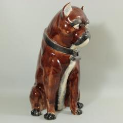 Large Majolica Pug Figure - 2062989