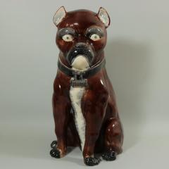 Large Majolica Pug Figure - 2062990
