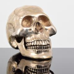 Large Metal Skull Sculpture Manner of Damien Hirst - 1569895