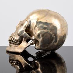 Large Metal Skull Sculpture Manner of Damien Hirst - 1569896