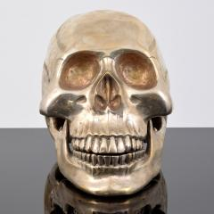 Large Metal Skull Sculpture Manner of Damien Hirst - 1569900