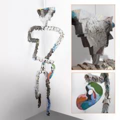 Large Michael Lucero Hanging Figural Sculpture 90  - 1660407