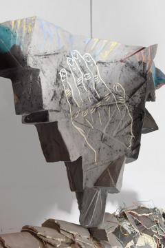 Large Michael Lucero Hanging Figural Sculpture 90  - 1660410
