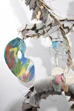 Large Michael Lucero Hanging Figural Sculpture 90  - 1660411
