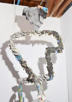 Large Michael Lucero Hanging Figural Sculpture 90  - 1660414