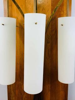 Large Mid Century Modern Milk Glass Wall Light Fixture - 1730006