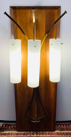 Large Mid Century Modern Milk Glass Wall Light Fixture - 1730010