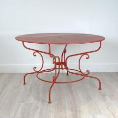 Large Mid Century Vintage French Red Garden Table - 1632239