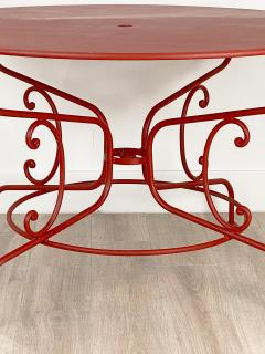 Large Mid Century Vintage French Red Garden Table - 1632240