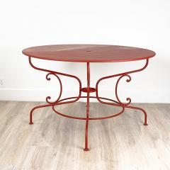 Large Mid Century Vintage French Red Garden Table - 1632241