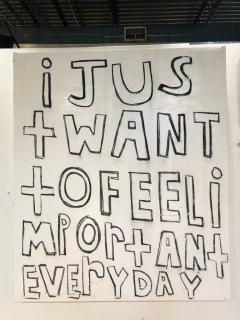 Large Modern Oil Painting I Just Want To Feel Important Everyday  - 794797