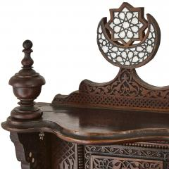 Large Moorish style mother of pearl inlaid display cabinet - 1459600
