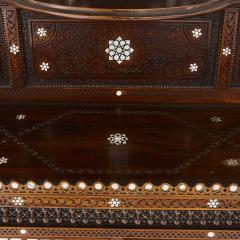 Large Moorish style mother of pearl inlaid display cabinet - 1459604