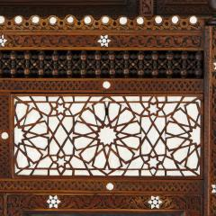 Large Moorish style mother of pearl inlaid display cabinet - 1459605