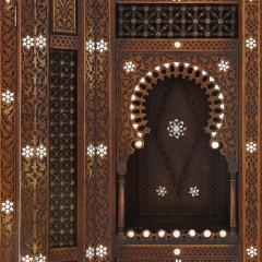 Large Moorish style mother of pearl inlaid display cabinet - 1459606