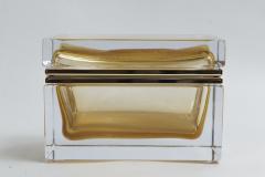 Large Murano Blown 24k Gold Box Contemporary - 1192013