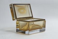 Large Murano Blown 24k Gold Box Contemporary - 1192033