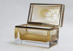 Large Murano Blown 24k Gold Box Contemporary - 1192037