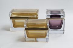 Large Murano Blown 24k Gold Box Contemporary - 1192056