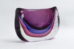Large Murano Blown Amethyst Vase Contemporary - 1192044