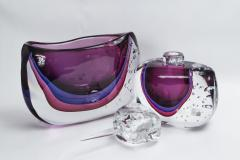 Large Murano Blown Amethyst Vase Contemporary - 1192052