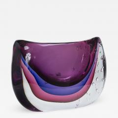 Large Murano Blown Amethyst Vase Contemporary - 1192363