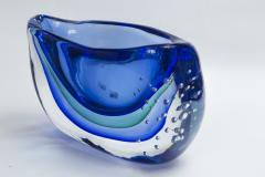 Large Murano Blown Blue Vase Contemporary - 1192050