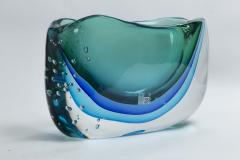 Large Murano Blown Turquoise Vase Contemporary - 1192051
