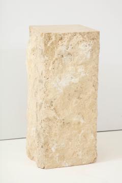 Large Natural Travertine Pedestal  - 1138553