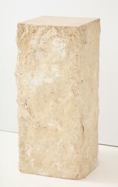 Large Natural Travertine Pedestal  - 1138554