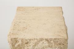 Large Natural Travertine Pedestal  - 1138556