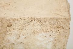 Large Natural Travertine Pedestal  - 1138558