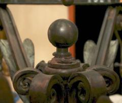 Large Neoclassic Bronze and Iron Lantern - 657398