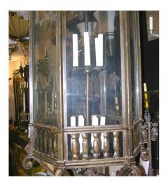 Large Neoclassic Bronze and Iron Lantern - 657402