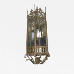 Large Neoclassic Bronze and Iron Lantern - 657627