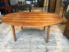 Large Oval Farm Table Cherrywood French Th Century - Oval farm table