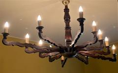 Large Oval Rustic Country Style Ceiling Light - 2062036