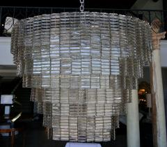 Large Oval Smoked Murano Chandelier - 1151583