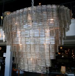 Large Oval Smoked Murano Chandelier - 1151584